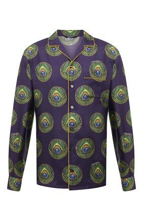 Мужская шелковая рубашка DOLCE & GABBANA сиреневого цвета, арт. G5EM2T/IS1FW | Фото 1
