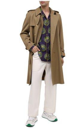 Мужская шелковая рубашка DOLCE & GABBANA сиреневого цвета, арт. G5EM2T/IS1FW | Фото 2