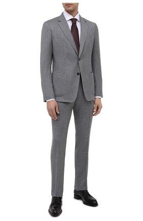 Мужской шерстяной костюм Z ZEGNA светло-серого цвета, арт. 824713/2X7YGX   Фото 1 (Материал внешний: Шерсть; Рукава: Длинные; Костюмы М: Однобортный; Стили: Классический)