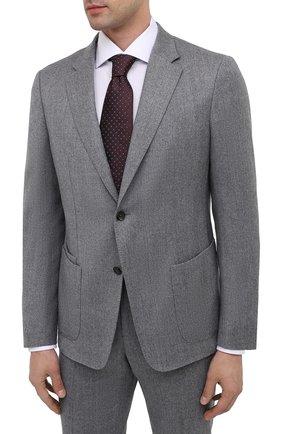 Мужской шерстяной костюм Z ZEGNA светло-серого цвета, арт. 824713/2X7YGX   Фото 2 (Материал внешний: Шерсть; Рукава: Длинные; Костюмы М: Однобортный; Стили: Классический)