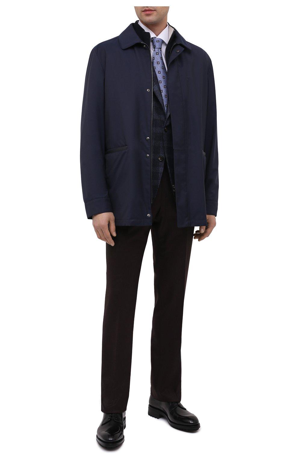 Мужские кожаные дерби BRIONI черного цвета, арт. QE1A0L/P6757 | Фото 2