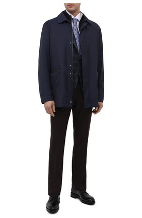 Мужской кожаные дерби BRIONI черного цвета, арт. QE1A0L/P6757 | Фото 2