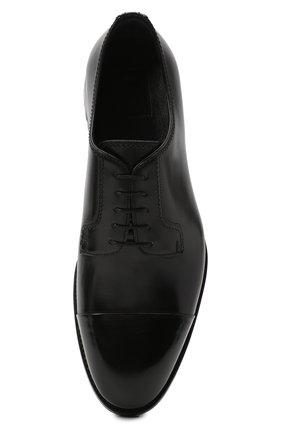 Мужские кожаные дерби BRIONI черного цвета, арт. QE1A0L/P6757 | Фото 5