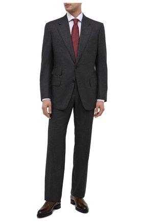 Мужские кожаные оксфорды BRIONI коричневого цвета, арт. QEH10L/P6757 | Фото 2