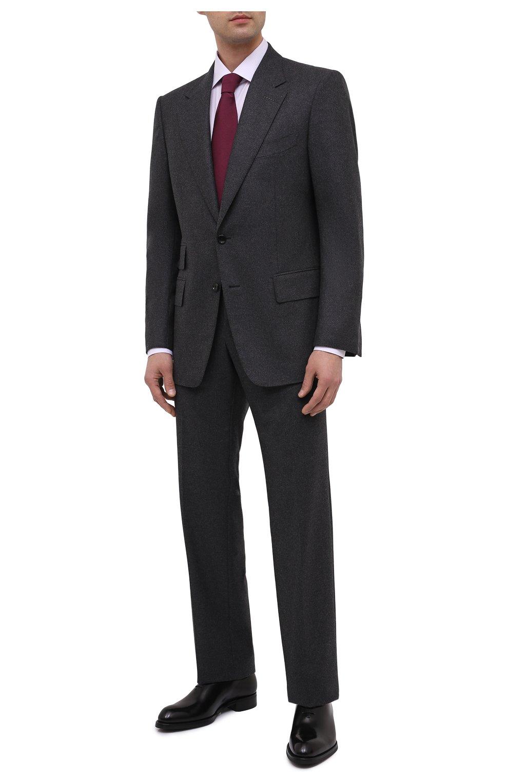 Мужские кожаные оксфорды BRIONI черного цвета, арт. QEH10L/P6757 | Фото 2