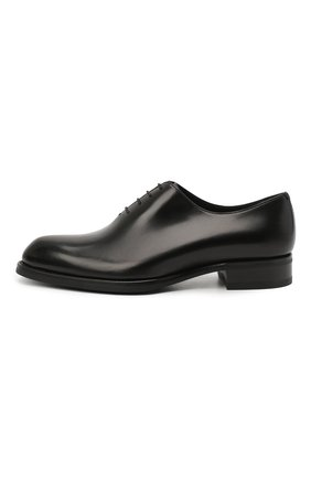 Мужские кожаные оксфорды BRIONI черного цвета, арт. QEH10L/P6757 | Фото 3