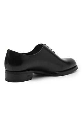 Мужские кожаные оксфорды BRIONI черного цвета, арт. QEH10L/P6757 | Фото 4