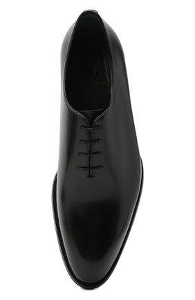 Мужские кожаные оксфорды BRIONI черного цвета, арт. QEH10L/P6757 | Фото 5