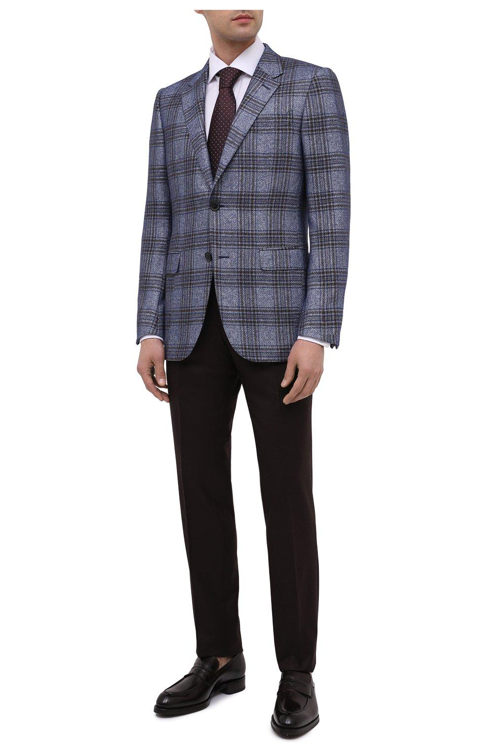 Мужские кожаные пенни-лоферы BRIONI темно-коричневого цвета, арт. QFDL0L/P6757   Фото 2