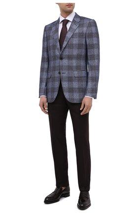 Мужские кожаные пенни-лоферы BRIONI темно-коричневого цвета, арт. QFDL0L/P6757 | Фото 2
