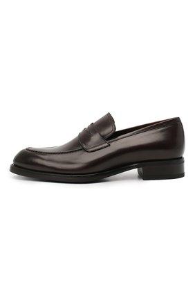 Мужские кожаные пенни-лоферы BRIONI темно-коричневого цвета, арт. QFDL0L/P6757   Фото 3