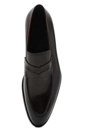 Мужские кожаные пенни-лоферы BRIONI темно-коричневого цвета, арт. QFDL0L/P6757   Фото 5