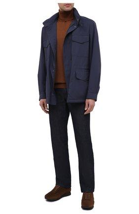 Мужские замшевые кроссовки BRIONI коричневого цвета, арт. QHI90L/09734 | Фото 2