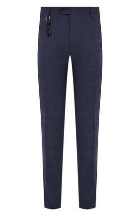 Мужские кашемировые брюки MARCO PESCAROLO синего цвета, арт. SLIM80/4248   Фото 1