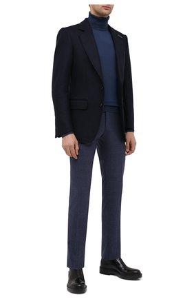 Мужские кашемировые брюки MARCO PESCAROLO синего цвета, арт. SLIM80/4248   Фото 2