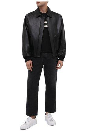 Мужская шерстяная футболка Z ZEGNA черного цвета, арт. VV379/ZZT622 | Фото 2 (Рукава: Короткие; Материал внешний: Шерсть; Длина (для топов): Стандартные; Принт: С принтом; Мужское Кросс-КТ: Футболка-одежда; Стили: Кэжуэл)