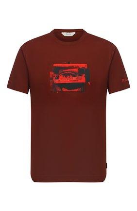 Мужская хлопковая футболка Z ZEGNA коричневого цвета, арт. VV372/ZZ6305 | Фото 1 (Материал внешний: Хлопок; Рукава: Короткие; Длина (для топов): Стандартные; Мужское Кросс-КТ: Футболка-одежда; Стили: Кэжуэл)