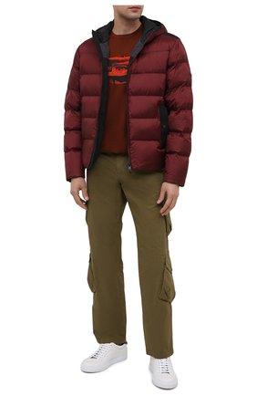 Мужская хлопковая футболка Z ZEGNA коричневого цвета, арт. VV372/ZZ6305 | Фото 2 (Материал внешний: Хлопок; Рукава: Короткие; Длина (для топов): Стандартные; Мужское Кросс-КТ: Футболка-одежда; Стили: Кэжуэл)