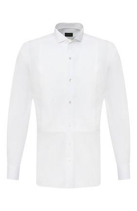 Мужская хлопковая сорочка ERMENEGILDO ZEGNA белого цвета, арт. 801980/9MENSM | Фото 1