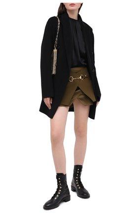 Женские кожаные ботинки STUART WEITZMAN черного цвета, арт. S0154 | Фото 2