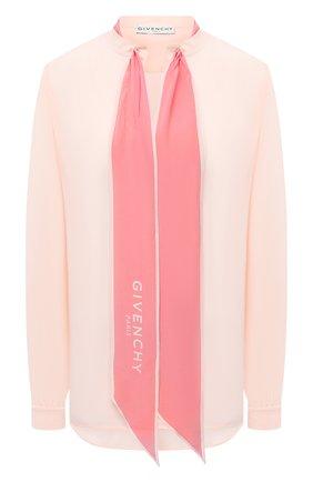 Женская шелковая блузка GIVENCHY розового цвета, арт. BW60FG12EH | Фото 1