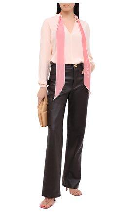 Женская шелковая блузка GIVENCHY розового цвета, арт. BW60FG12EH | Фото 2