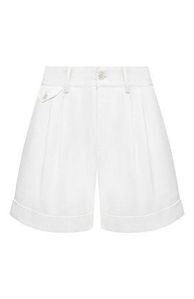 Женские хлопковые шорты RALPH LAUREN белого цвета, арт. 290821544 | Фото 1