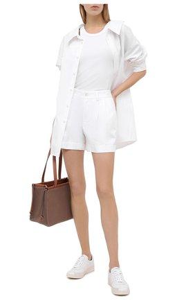 Женские хлопковые шорты RALPH LAUREN белого цвета, арт. 290821544 | Фото 2