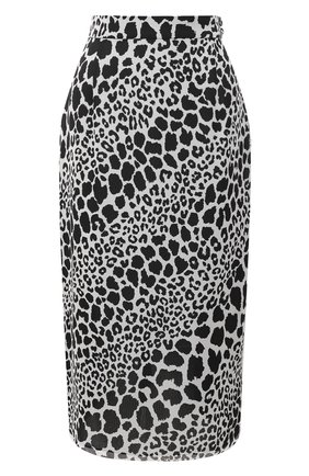 Женская шелковая юбка ALESSANDRA RICH черно-белого цвета, арт. FAB2287-F2975 | Фото 1