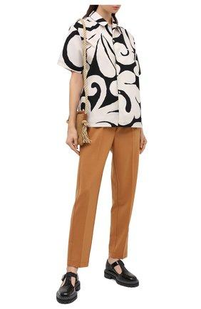 Женские шерстяные брюки FORTE_FORTE коричневого цвета, арт. 7518 | Фото 2