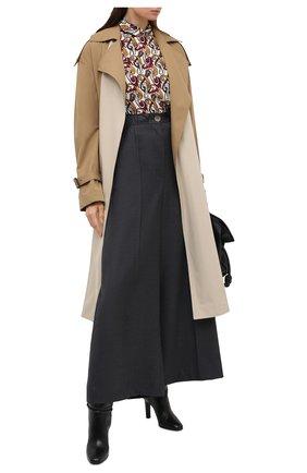 Женская блузка из вискозы VICTORIA BECKHAM разноцветного цвета, арт. 1320WTP001731A | Фото 2