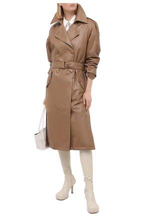 Женское кожаное пальто DROME бежевого цвета, арт. DPD5732P/D400P | Фото 2