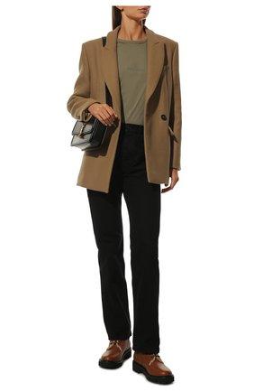 Женские кожаные ботинки valentino garavani vlogo VALENTINO коричневого цвета, арт. UW0S0Q03/JVA | Фото 2