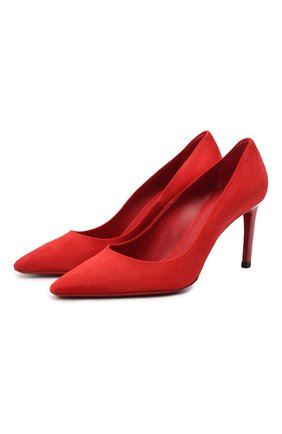 Женская замшевые туфли SANTONI красного цвета, арт. WDA058871HA2TLKSR40 | Фото 1