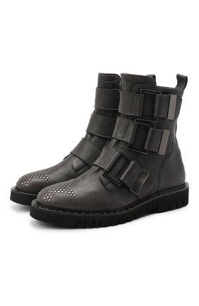Женские кожаные ботинки LORENA ANTONIAZZI темно-серого цвета, арт. A2077SC014/424 | Фото 1