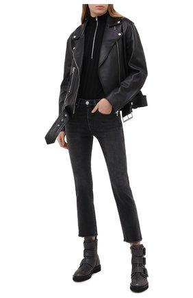 Женские кожаные ботинки LORENA ANTONIAZZI темно-серого цвета, арт. A2077SC014/424 | Фото 2