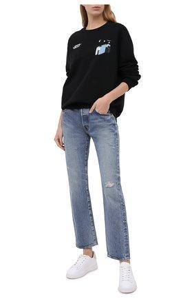 Женская хлопковый свитшот OFF-WHITE черного цвета, арт. 0WBA055F20JER0101001 | Фото 2