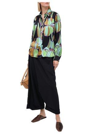 Женские шерстяные брюки MARNI темно-синего цвета, арт. PAMA0199A0/TW839 | Фото 2
