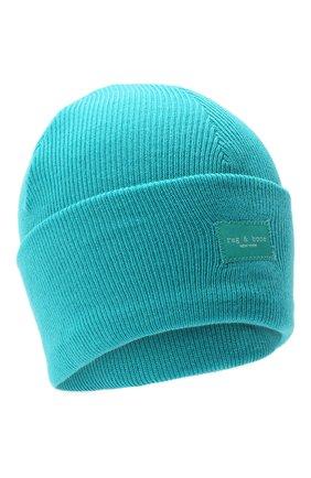 Женская шерстяная шапка RAG&BONE голубого цвета, арт. WJK20FS008XH08 | Фото 1