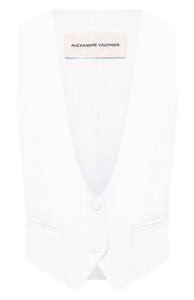 Женский жилет ALEXANDRE VAUTHIER белого цвета, арт. 204JA1151 0194-1150 | Фото 1