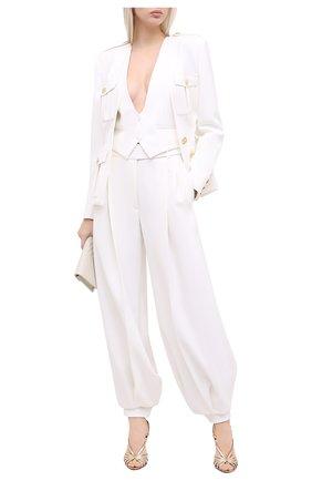 Женский жилет ALEXANDRE VAUTHIER белого цвета, арт. 204JA1151 0194-1150 | Фото 2