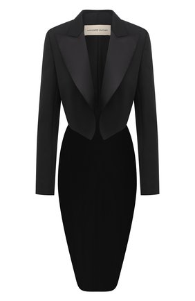 Женский шерстяной жакет ALEXANDRE VAUTHIER черного цвета, арт. 204JA1353 0193-1106 | Фото 1
