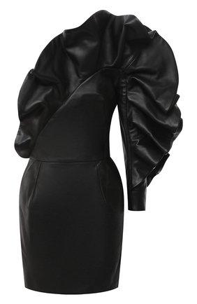 Женское кожаное платье ALEXANDRE VAUTHIER черного цвета, арт. 204LDR1351 0404 | Фото 1