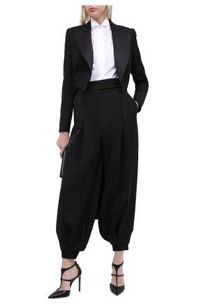 Женские шерстяные брюки ALEXANDRE VAUTHIER черного цвета, арт. 204PA1351 0193-1106   Фото 2