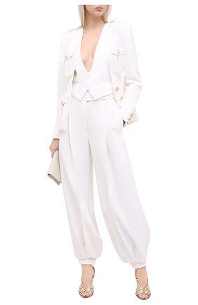 Женские брюки ALEXANDRE VAUTHIER белого цвета, арт. 204PA1351 0194-1150   Фото 2