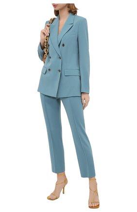 Женские брюки DIANE VON FURSTENBERG бирюзового цвета, арт. 15301DVF | Фото 2