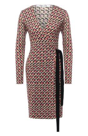 Женское шерстяное платье DIANE VON FURSTENBERG разноцветного цвета, арт. 15069DVF | Фото 1