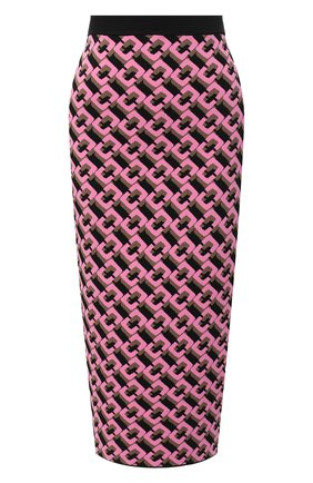 Женская юбка из вискозы DIANE VON FURSTENBERG розового цвета, арт. 15066DVF | Фото 1