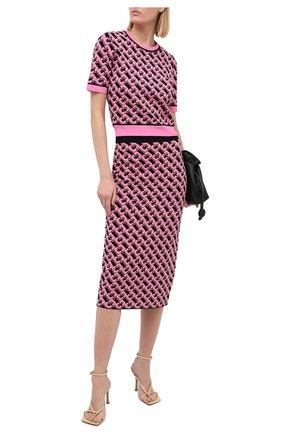 Женская юбка из вискозы DIANE VON FURSTENBERG розового цвета, арт. 15066DVF | Фото 2