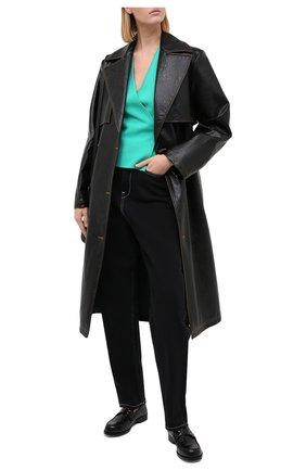 Женский топ DIANE VON FURSTENBERG зеленого цвета, арт. 15055DVF | Фото 2